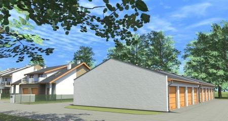 wizualizacja garażu na Osiedlu Bnińskim w Kórniku