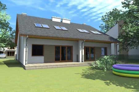 wizualizacja domu na Osiedlu Bnińskim w Kórniku 1