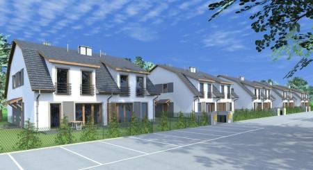 wizualizacja zabudowy bliźniaczej na budowa domów na Osiedlu Przyjazne w Robakowie